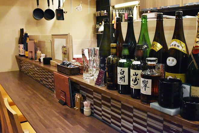 京・鴨料理はじめ 1階のカウンター席